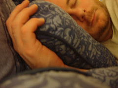 Sleeping man: Image courtesy Flickr user steveleenow via Creative Commons