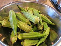 Fresh Okra by Flickr user Jenny Hones, Creative Commons license